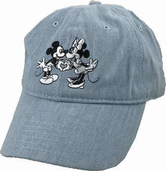 Disney Women's Mickey Minnie Mouse Embroidered 6 Panel DAD Cap