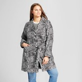 Who What Wear Women's Plus Size Printed Trench Snakeskin