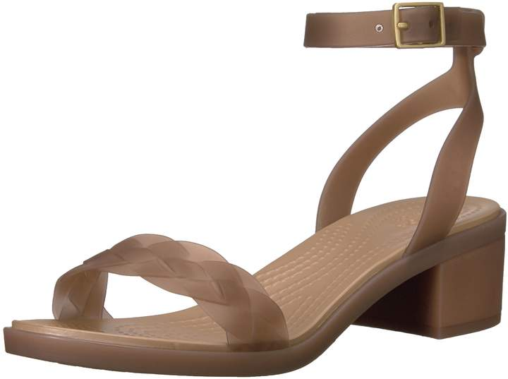 Crocs Women's Isabella Block Heel W Wedge Sandal