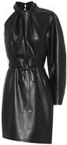 Nanushka Asymmetric faux-leather dress