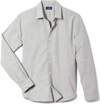 The Tie Bar Solid Flannel Grey Shirt