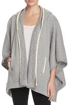 Three Dots Hooded Sweatshirt Poncho