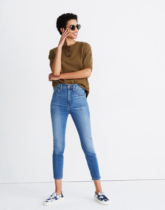 "Madewell Tall 11"" High-Rise Skinny Crop Jeans in Meadowlake Wash"