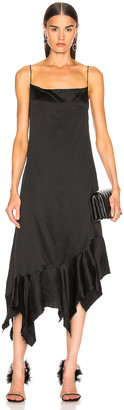 Marques Almeida Marques ' Almeida Spaghetti Strap Peplum Dress in Black | FWRD