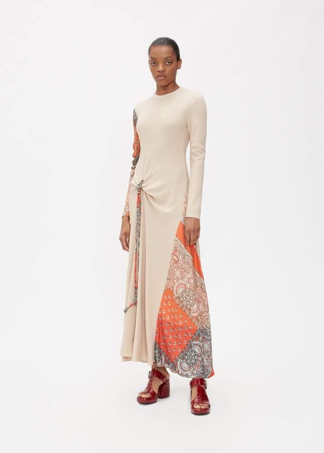 6481cba3b9 Long Sleeve Print Combo Dress