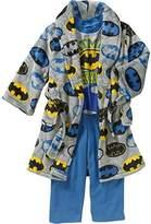 DC Comics Toddler Boys 3 Piece Batman Bathrobe & Pajama Set