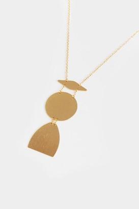 francesca's Billie Geometric Pendant Necklace - Gold