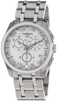 Tissot Men's Steel Bracelet & Case Anti Reflective Sapphire Quartz Dial Analog Watch T0356171103100