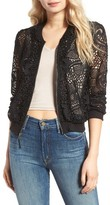Ella Moss Women's Pixie Sheer Lace Bomber Jacket