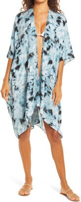 Pool To Party Fogged Horizon Open Front Cover-Up