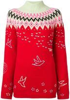 Nina Ricci roll neck zig-zag sweater