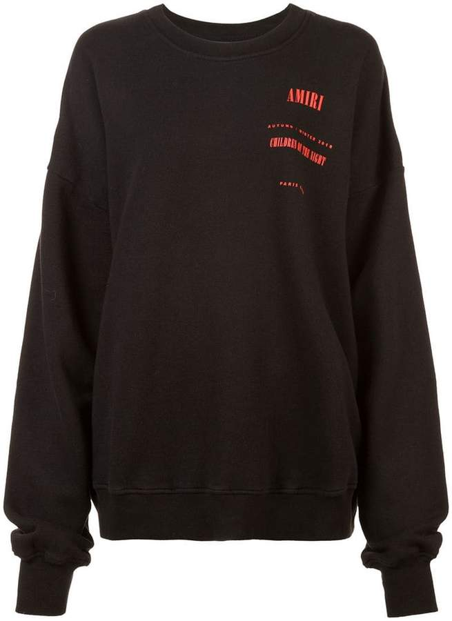Amiri chest logo sweatshirt