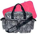 Trend Lab Deluxe Duffle Diaper Bag - Midnight Fleur Damask