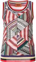 Missoni patchwork knit tank - women - Cotton/Nylon/Rayon/Wool - 42