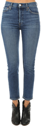 RE/DONE Stretch High Rise Ankle Crop