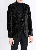 Etro Rose-print Regular-fit Velvet Jacket