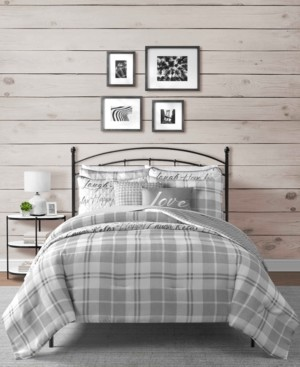 Sunham Gingham 8-Pc. Reversible California King Comforter and Coverlet Set Bedding
