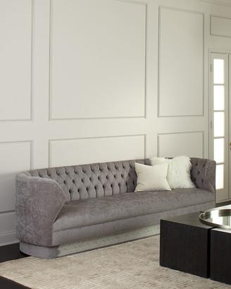 "Haute House Fleche Tufted Sofa, 110"""