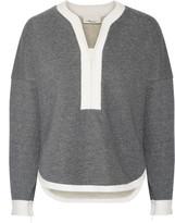 3.1 Phillip Lim Two-tone cotton terry sweatshirt