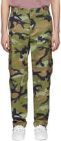 Valentino Green Camouart Cargo Pants