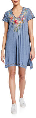 Johnny Was Kaira Draped Tunic Dress