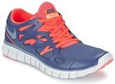 Nike FREE RUN 2 women's Shoes (Trainers) in Blue