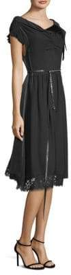 Marc Jacobs Women's Two-Tone A-Line Dress - Black - Size 10