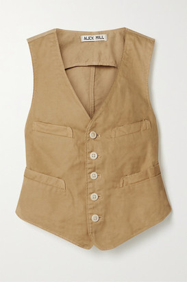 Alex Mill Cropped Cotton-blend Twill Vest - Beige