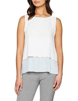 Off-White Yargıcı Womens 9YKGM6101X Round Collar Sleeveless Blouse Large