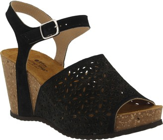 Spring Step Suede Wedge Sandals - Lauralyn