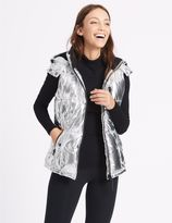 Marks and Spencer Metallic Padded Gilet with StormwearTM
