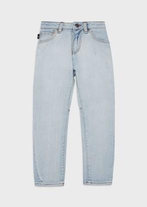 Emporio Armani J04 Denim Jeans With Vintage Details