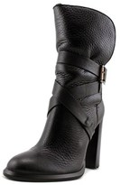 Calvin Klein Jeans Tanya Women Round Toe Leather Black Ankle Boot.