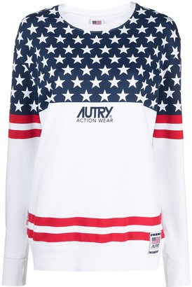 AUTRY Open Capsule flag-print sweatshirt