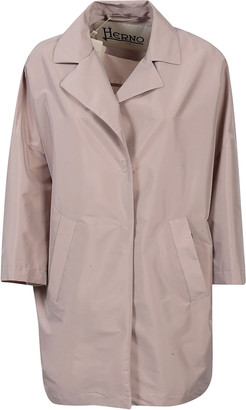 Herno Side Slit Pocket Concealed Coat