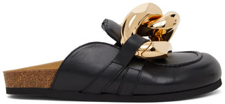 J.W.Anderson Black Chain Slippers