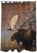 Thumbprintz Moose Fabric Shower Curtain