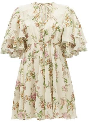 Giambattista Valli Floral Silk-georgette Dress - Ivory Multi