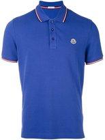 Moncler logo plaque polo shirt - men - Cotton - XL