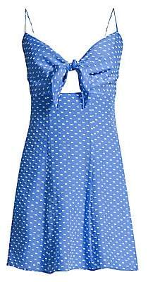 Alice + Olivia Women's Roe Tie-Front Clip-Dot Mini Dress