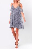 Paper Crane Floral Button Dress