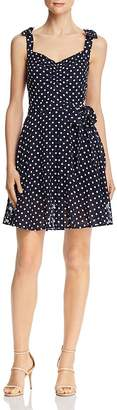 Betsey Johnson Dot-Print Sleeveless Dress