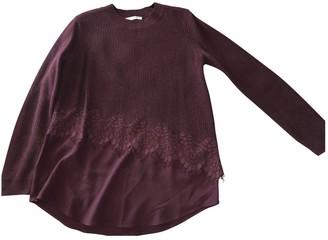 Sandro Fall Winter 2018 Burgundy Cotton Knitwear