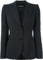 Dolce & Gabbana polka dot blazer - women - Cupro/Virgin Wool - 40