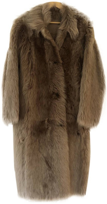 Whistles Camel Shearling Coats