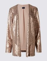 Marks and Spencer PETITE Long Sleeve Sequin Jacket