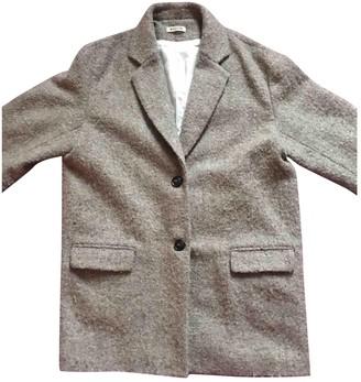 Masscob Brown Wool Coat for Women
