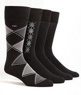Calvin Klein Argyle Crew Dress Socks 4-Pack
