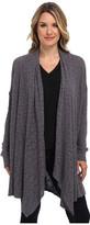 Allen Allen Slub Sweater Mesh Long Sleeve Two-Pocket Open Cardigan
