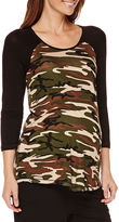 Asstd National Brand Maternity 3/4-Sleeve Knit Top